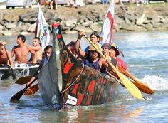 Lummi Canoe Family arriving at Swinomish July 2011...saw this family coming in