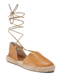 Made+In+Spain+Lace+Up+Leather+Espadrilles