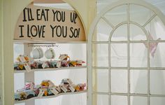 Greg & Jess's DIY wedding. They collected 150 settings of vintage corelle dishes!