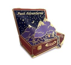 Adventure Pin Pack Adventures Lapel Pin Suitcase Pin