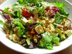 I eat a lot of salads but not because they are vegan. I eat them because they are healthy!