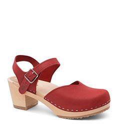 77fbf24cf732cc Sandgrens Swedish Wooden High Heel Clog Sandals for Women