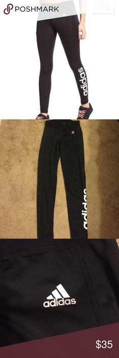 * LOWEST*Adidas Sports Essentials Linear Tights Adidas leggings worn a couple times. Good condition. Size small. Adidas Pants Leggings