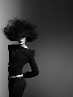 I have hair like this :-)  how come I am not in a magazine?