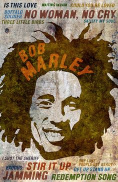 Bob Marley Poster - Limited Edition of 100, Signed by Artist Jackson, Just $20 www.dosecreative.com