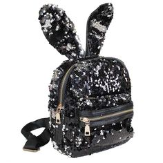 Black Cat Flip Sequin Hooded Backpack Justice Justice