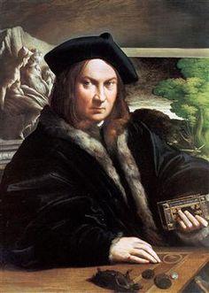 Portrait of a gentleman wearing a beret - Parmigianino Обрамленные Принты,  Искусство Портрета, Одежда 6767fba12cd