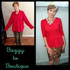 Feeling Kinda Thrifty: Red Peplum Winner...