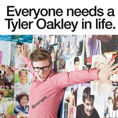 Yes! :D I love him! :) -- Tyler Oakley <3 #my gay YouTube king number two