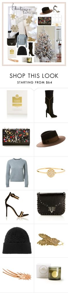 """Christmas gifts"" by montaignemarket ❤ liked on Polyvore featuring Bioxidea, Yves Saint Laurent, Maison Michel, AND, Gianvito Rossi, Valentino, Exemplaire, Pluie and Arty Fragrance"
