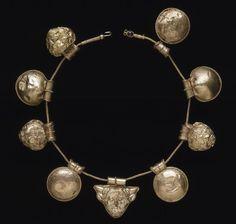 Repousse Etruscan Necklace | Gold Bula Necklace | c.400-350 bc | British Museum