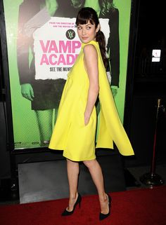 Olga Kurylenko in Dior dress, at the Vampire Academy premiere in LA.