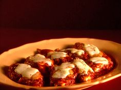 Favorite Chick Parm Recipie; however i use my own red sauce, although Im sure Giadas is great.