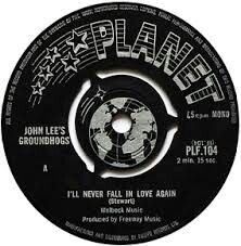 """JOHN LEE & His GROUNDHOGS """"I'll Never Fall in Love Again"""" b/w """"Over You Baby"""" 1966 PLANET. Produced by SHEL TALMY! Maximum R&B w/ T.S. McFEE & Co & his hero.. Their namesake, JOHN LEE HOOKER! They released two MOD Freakbeat 45s after this as HERBAL MIXTURE before returning to their roots as a Boogie Band & McFEE becoming a unique & innovative songwriter just ahead of the Brit-Blues boom. """"Thank Christ For The Bomb"""" & """"Split"""" are still influencial to Boogie, Punk & Heavy Psych Rockers."""