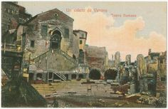Un saluto de Verona.  Teatro Romano. From New York Public Library Digital Collections.