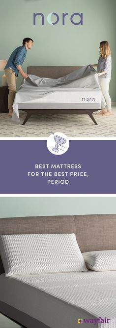 Meet Nora! Crafted exclusively for Wayfair by a team of industry experts, Nora is everything you look for in a mattress: supportive, breathable, and pressure-relieving. But it's more, too. It's extra-cool, thanks to calming jade infused into the cover. It