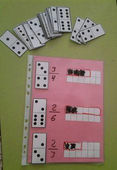 Perfect for comparing fractions. Math Classroom, Kindergarten Math, Teaching Math, Montessori Math, Homeschool Math, Math Games, Math Activities, Fraction Activities, Math Fractions