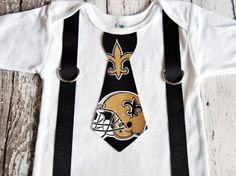 NFL New Orleans Saints Football Inspired Tie by SewBeachyBoutique, $18.00