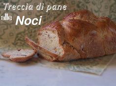 farina asse mattarello: Treccia di pane alle noci