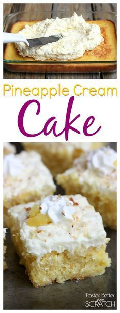 Pineapple Cream Cake is my favorite summer cake! Recipe from TastesBetterFromScratch.com: