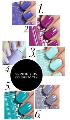 Spring 2015 Nail Essie Colors