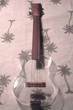 a polymer ukulele.<—I don't play the ukelele why do I keep posting ukulele stuff! Ukulele Art, Cool Ukulele, Ukulele Songs, Ukulele Chords, Guitar Art, Ukulele Fingerpicking, Guitar Painting, Music Aesthetic, Aesthetic Girl