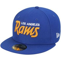 Los Angeles Rams New Era Throwback 59FIFTY Fitted Hat - Royal