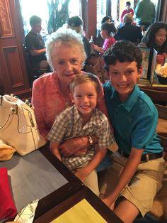 Parker, Luke and Mema. Luke's 13th b'day July 2015.