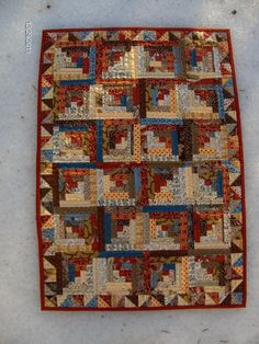 Minature Log Cabin Quilt | Flickr - Photo Sharing!