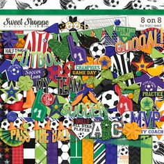 8 on 8 a new Soccer-inspired digital scrapbooking collection � plus FREE World Cup journaling cards!