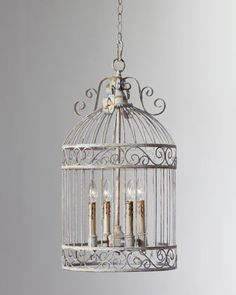 Domed Birdcage Pendant at Horchow.