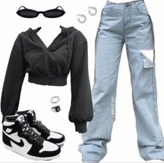 Tomboy Fashion, Teen Fashion Outfits, Retro Outfits, Streetwear Fashion, Girl Outfits, Covet Fashion, Vintage Outfits, Swaggy Outfits, Baddie Outfits Casual