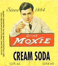 "The Secret Integration: The original Moxie logo featuring the ""Moxie Man"" on the label of a derivative product."