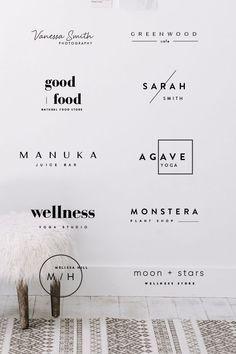 Our logo bundle of 24 pre made logos are designed for minimal style brands. We c… Our logo bundle of 24 pre made logos are designed for minimal style brands. We c…,Logo & Design. Adobe Illustrator, Minimal Fashion, Minimal Style, Logo Branding, Branding Design, Brand Logo Design, Logo Desing, Artist Branding, Design Logos