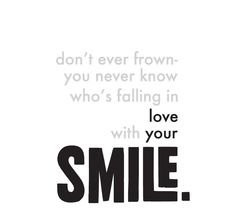 Love Your Smile - Digital Printable Typography Love Quote, Download And Print JPEG Image -.   via Etsy.