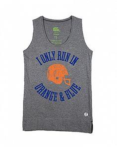 Vintage 'I Only Run in Orange & Blue' Half Marathon Tank