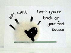 Hope you are back on your feet soon.