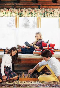Classy Girls Wear Pearls: Good Old Fashion Holiday Cheer Part 1 {Obsessed with the fair isles sweaters and plaid skirts}