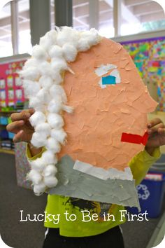 Torn Paper Art: George Washington Profile
