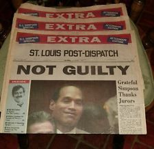 1995 headline newspaper EXTRA - OJ SIMPSON found NOT GUILTY. WTF??!?!? Oj Simpson, Front Page News, Newspaper Headlines, Headline News, Major Events, A Day To Remember, Smash Book, Social Issues, Historical Photos