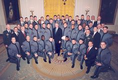 1996 Army Football team visiting the White House and President Clinton as they won the Commander and Chief Trophy by defeating BOTH Air Force and Navy!