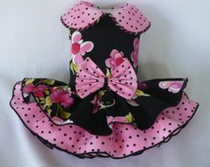 Dog dress. Black Floral by Poshdog. Tutu skirt. by poshdog on Etsy