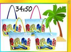 TORBA PLAŻOWA na plażę SHOPPER BAG Torebka 50 x 34