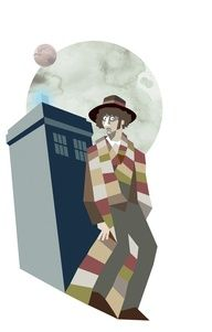 Tom Baker, Doctor Who....again, fourth doctor and he looks a little creepy.