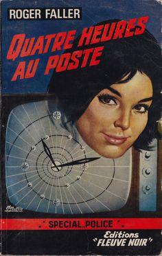 Michel Gourdon illustration for Fleuve Noir, french pulp books.