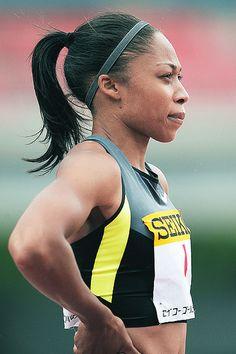 American track & field star Allyson Felix