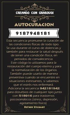 CODIGO GRABOVOI - AUTOCURACION - 9187948181