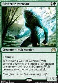 Silverfur Partisan, Magic, Prerelease Cards