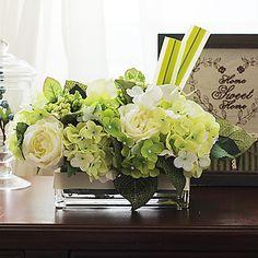 """12 """"h mesa elegante arreglo ramo de flores (verde) – USD $ 69.99"""