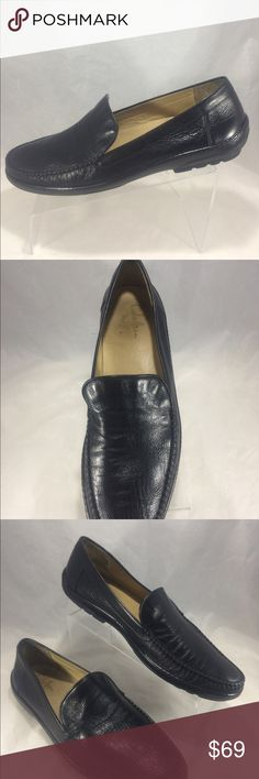 COLE HAAN, collection Dark Brown sheepskin Loafers Men's Cole Haan collection black Sheep Skin leather slip on moccasins with Nike air soles! Size 13 M * see pics for detailed wear and condition Cole Haan Shoes Loafers & Slip-Ons